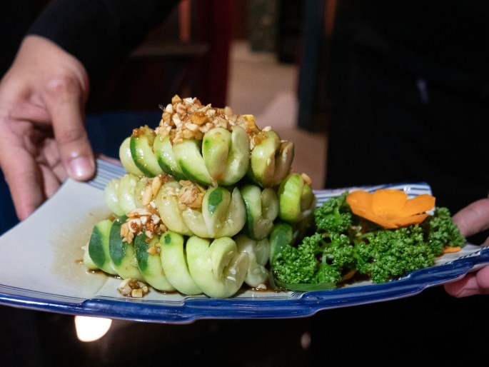 Spiced Twirled Cucumber