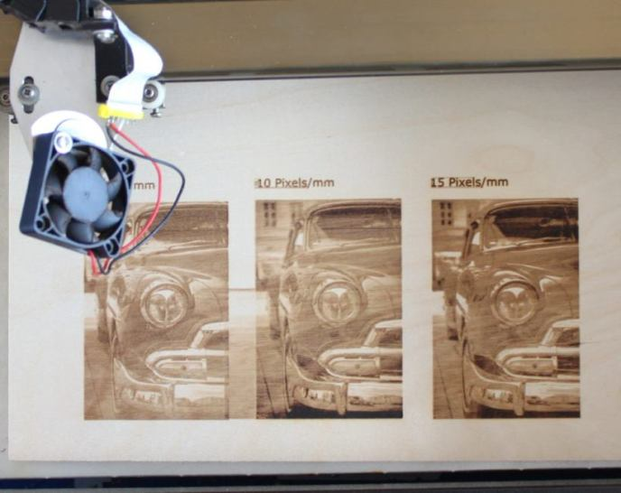 Laser engravings on plywood