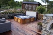 Back Yard Hot Tub Deck Ideas
