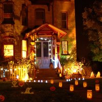 outdoor-halloween-decorations-with-nice-lighting-exteriors ...