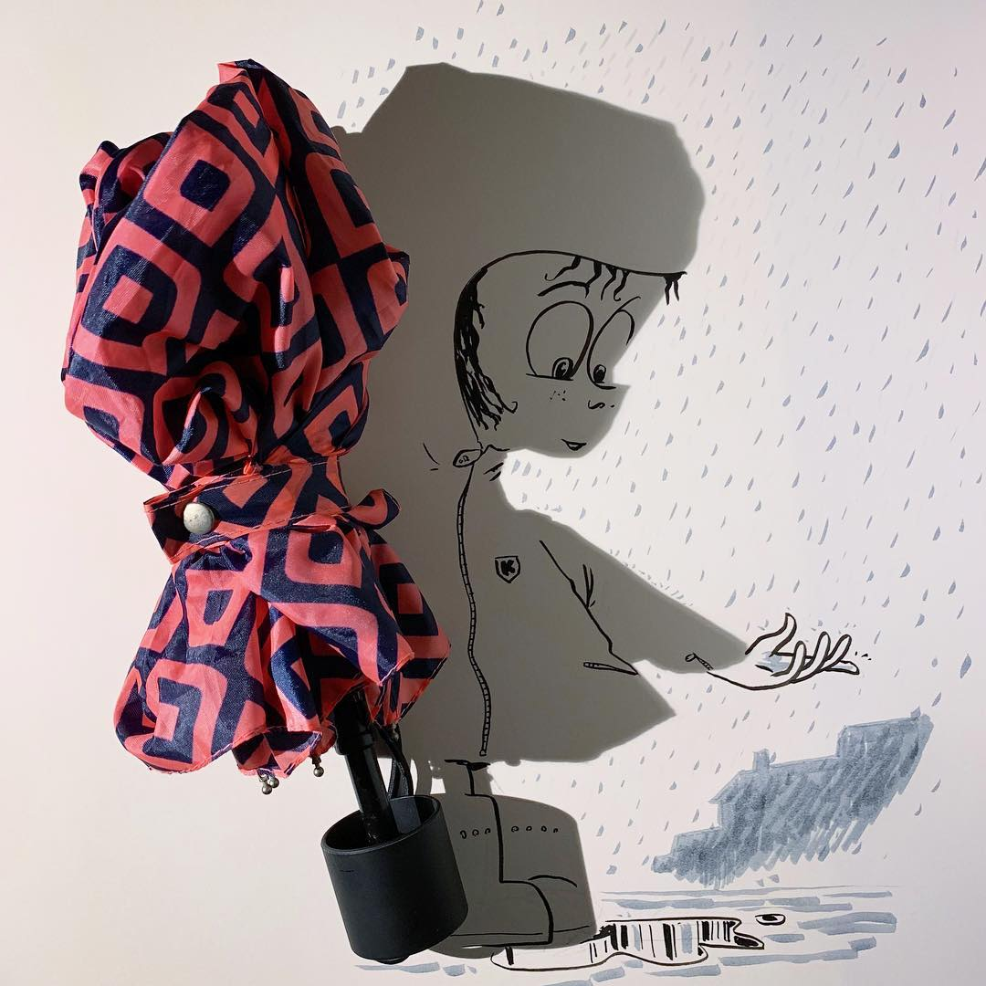 This Artist Has Introduced 'Shadowology' in the Art Lexicon Via 'Shadow Doodling' image 3