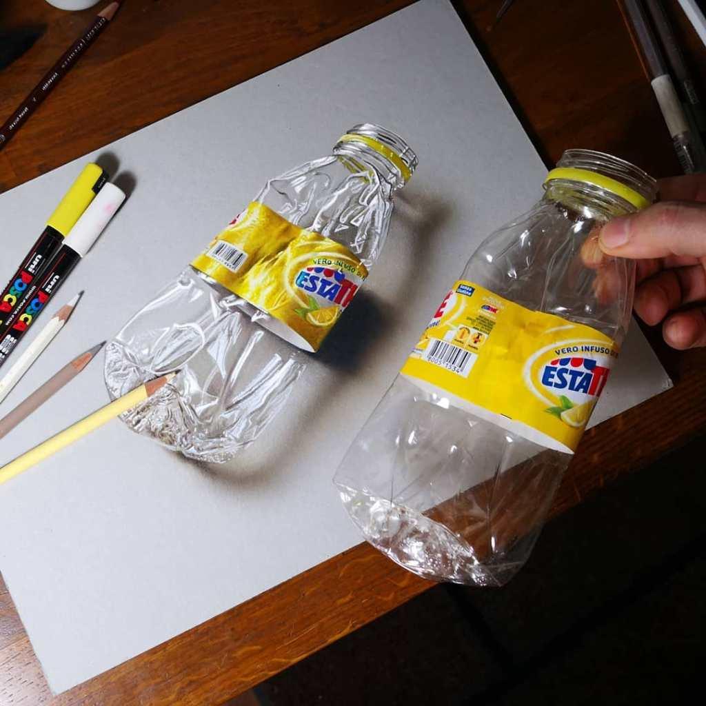 marcello barenghi crushed plastic bottle