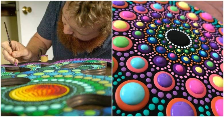 Brandon Expresses Artistic Ideas Through His Unique Dot Art