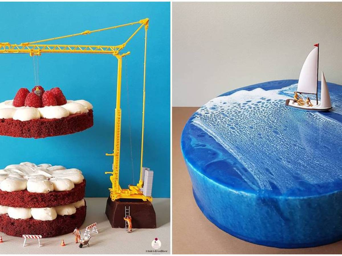 Swell Italian Pastry Chefs Food Artistry Creates Miniature Worlds Out Personalised Birthday Cards Beptaeletsinfo
