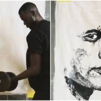 Artist Boubou Can Paint with Whatever He Can Lay His Hands-On