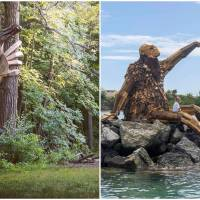This Sculptor Has Fabricated Giant Wooden Trolls That Need A Treasure Map To Locate!