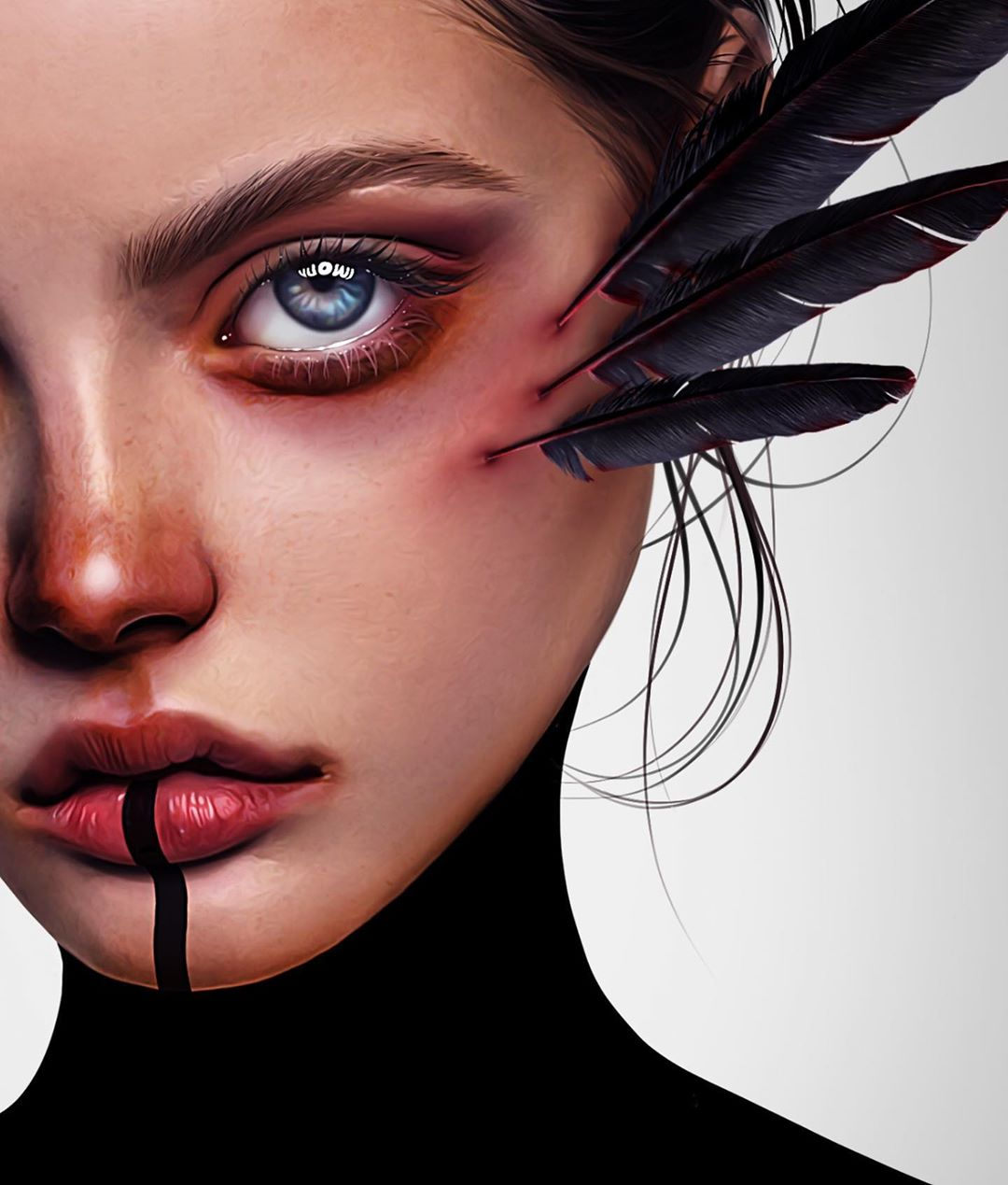 26-Year-Old Digital Artist With Model Looks Creates Stunning Female Illustrations On Tablet 5