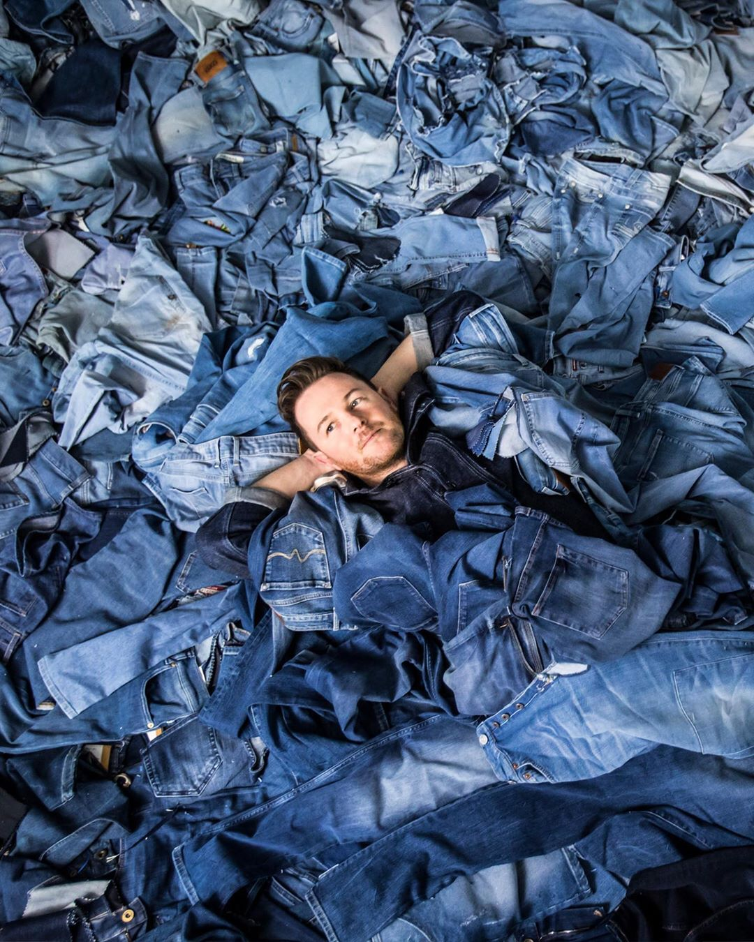 Artist Creates Stunning Works Of Art From Pieces Cut Out Of Denim Jeans 4