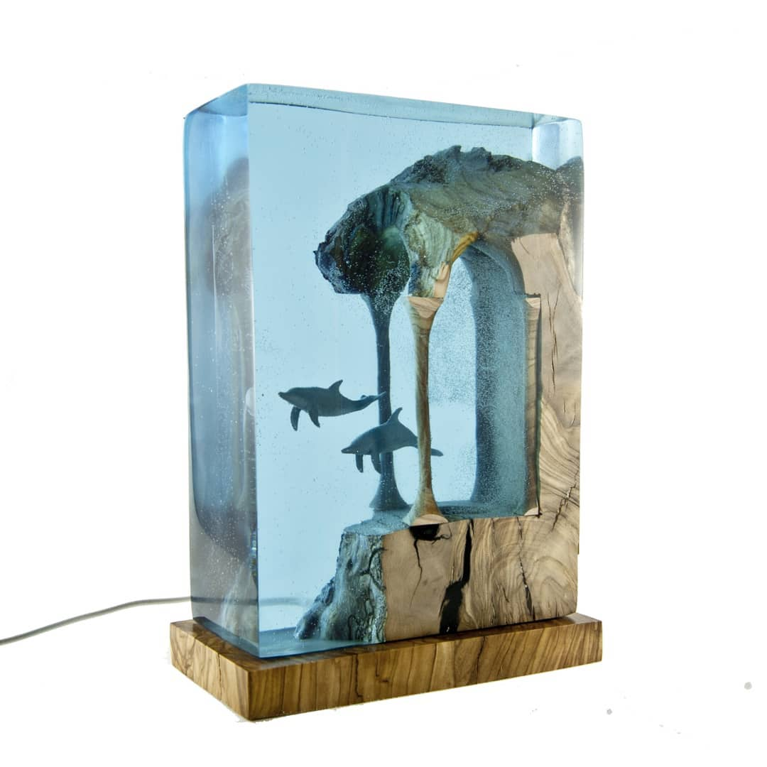 Turkish Artist Beautifully Creates Underwaters Imaginative Scenes With Resin And Wood 1
