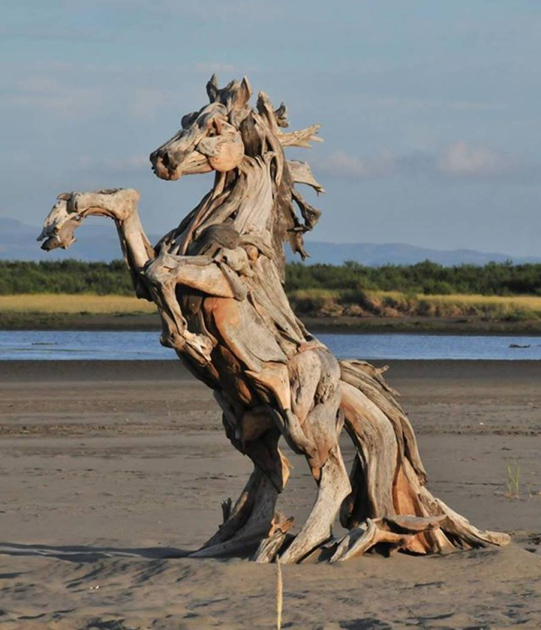 Wood Artist Creates Stunning Animal Sculptures Using Only Salvaged Wood 3