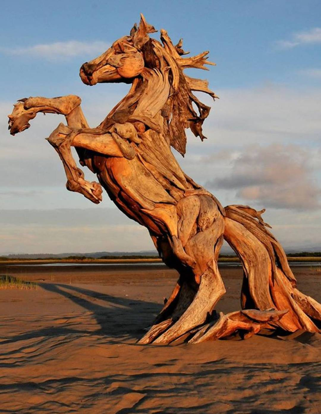 Wood Artist Creates Stunning Animal Sculptures Using Only Salvaged Wood 6