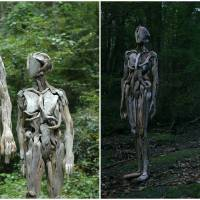 Japanese Sculptor's Driftwood Human Figures Are Frightening Enough To Give Sleepless Nights!