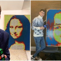 Ukrainian Artist's Rubik's Cube Art has Become the Talk of the Town