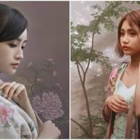 Japanese Artist Creates Photorealistic Oil Paintings of Japanese Women