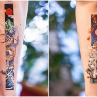 Chinese Tattoo Artist Recreates Traditional Colorful Chinese Paintings on the Body