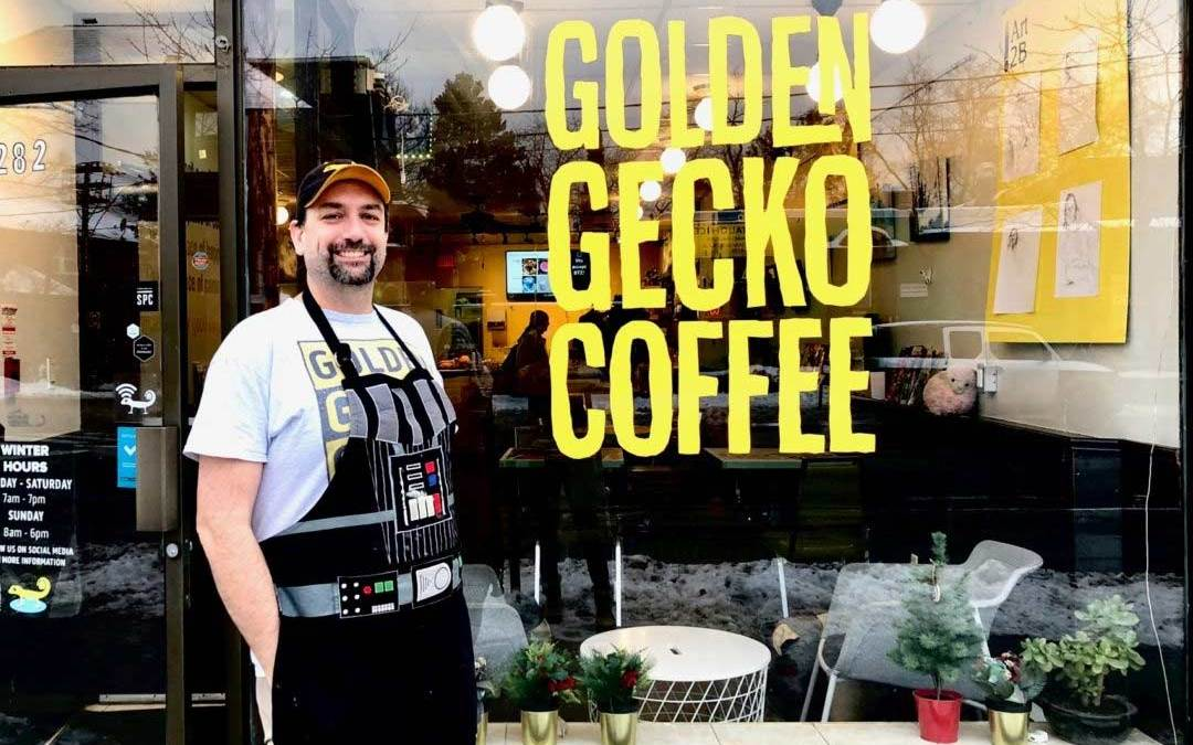 Jake and Golden Gecko store front