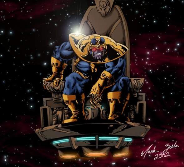 Thanos on his Throne