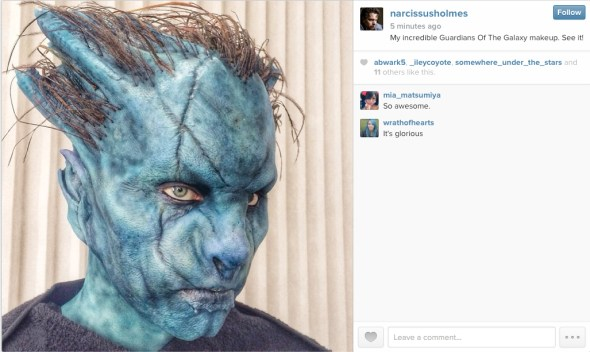 @narcissusholmes - My incredible Guardians of the Galaxy makeup. See it!