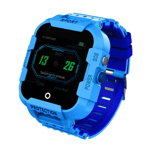 blue df39 smartwatch showing time