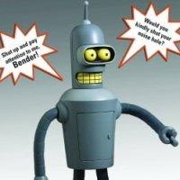 Talking Bender Figure