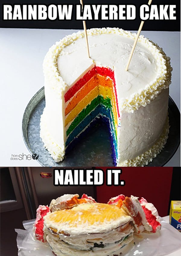 Nailed It Cakes : nailed, cakes, Amusing, 'Nailed, Dessert, Fails