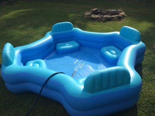 lounge chair walmart facial chairs equipment this $30 four seat family pool from will totally change how you do summer ...