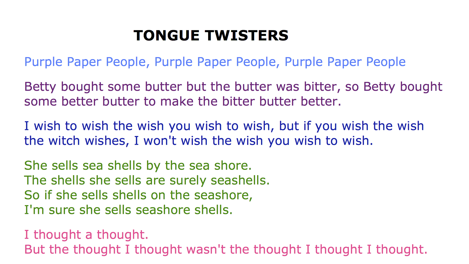 37 Funny Tongue Twisters Guaranteed To Twist Your Tongue