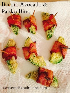 bacon avocado panko bites