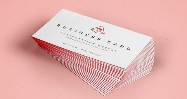 Business card mockup with border awesome mockups reheart Image collections