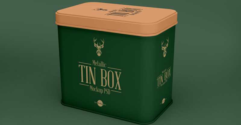 tin can mockup psd for packaging awesome mockups