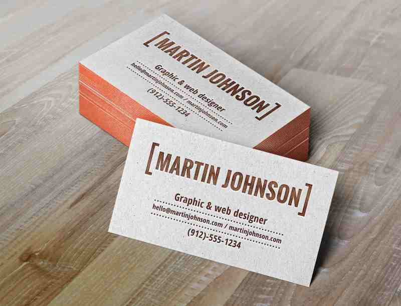 Realistic Letterpress Business Cards Mockup - Awesome Mockups