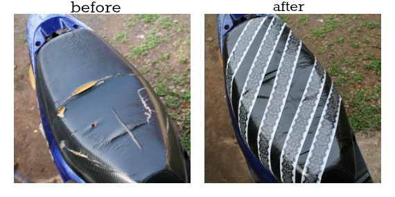 How to fix a torn moped seat for under $10
