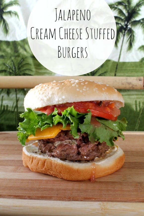 Jalapeno Cream Cheese Stuffed Burgers | How to be Awesome on $20 a Day