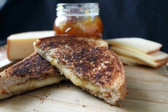Fig Jam & Smoked Gouda Grilled Cheese   How to be Awesome on $20 a Day