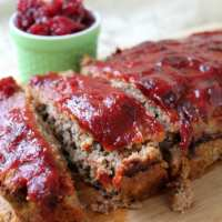 Cranberry Glazed Turkey Meatloaf