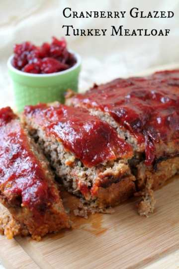 Cranberry Glazed Turkey Meatloaf   How to be Awesome on $20 a Day