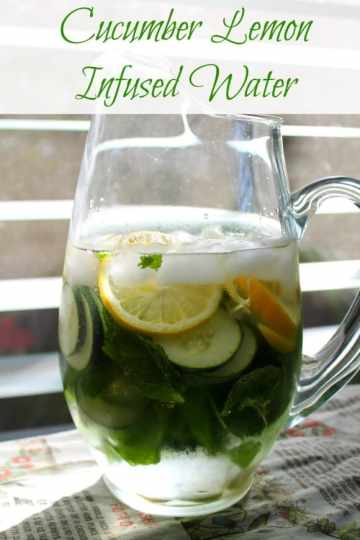 Cucumber Lemon Infused Water   How to be Awesome on $20 a Day