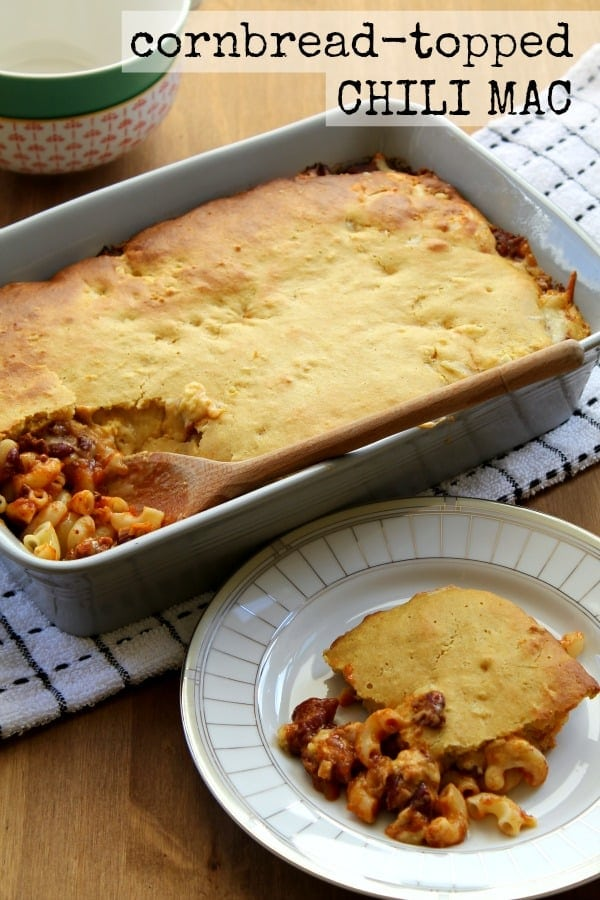 Cornbread-Topped Chili Mac