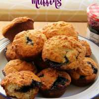 Blueberry Jam Muffins