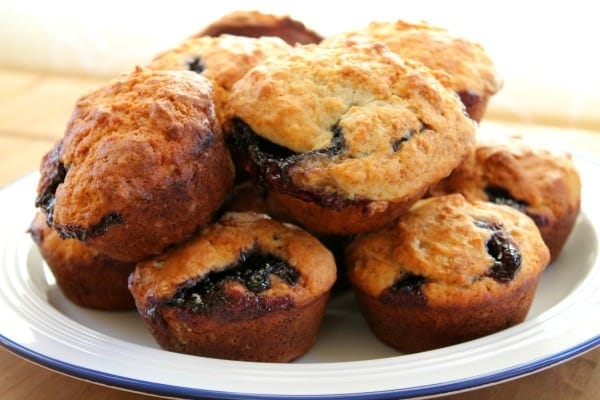 Blueberry Jam Muffins  How to be Awesome on $20 a Day