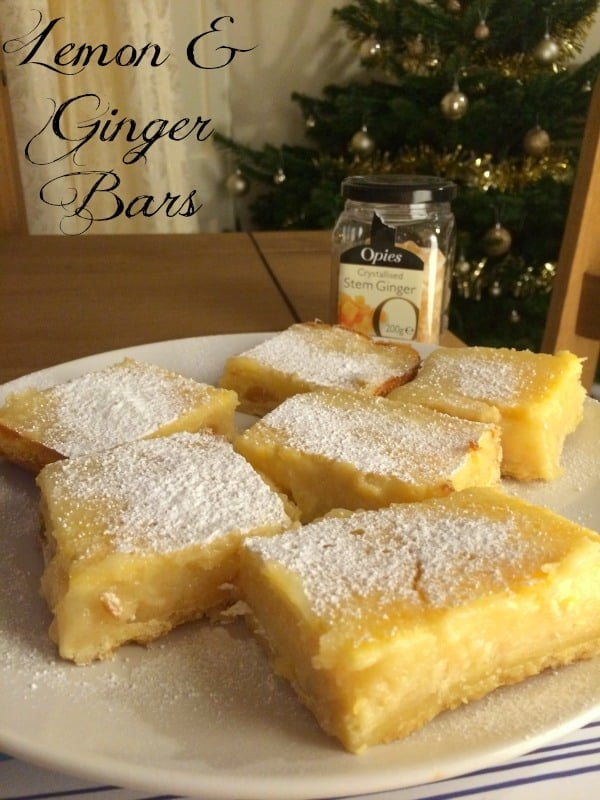 Lemon & Ginger Bars| How to be Awesome on $20 a Day