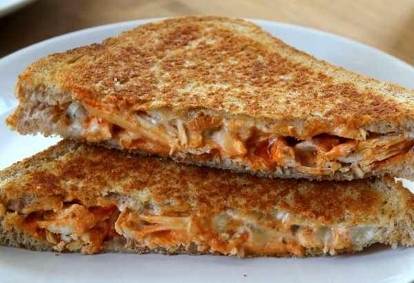 Buffalo Chicken Grilled Cheese | How to be Awesome on $20 a Day