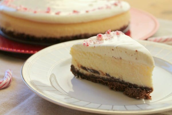 White Chocolate Peppermint Cheesecake | How to be Awesome on $20 a Day