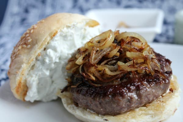Blue Cheese Burger | How to be Awesome on $20 a Day