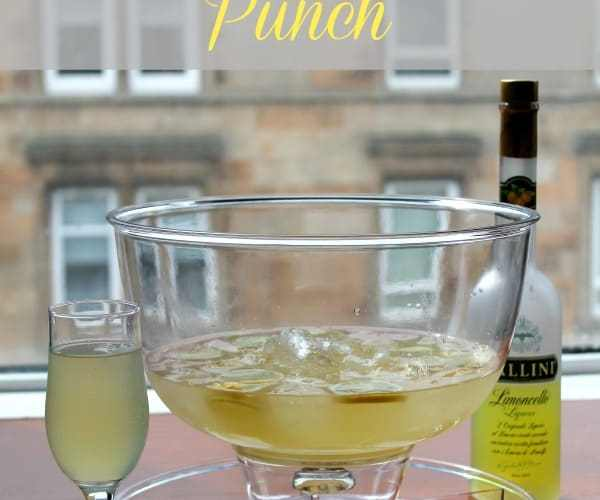 Lemon Champagne Punch | How to be Awesome on $20 a Day