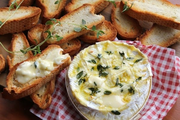 Garlic & Thyme Baked Camembert   How To Be Awesome on $20 a Day