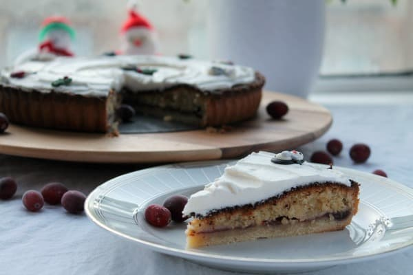 Cranberry Bakewell Tart   How to be Awesome on $20 a Day