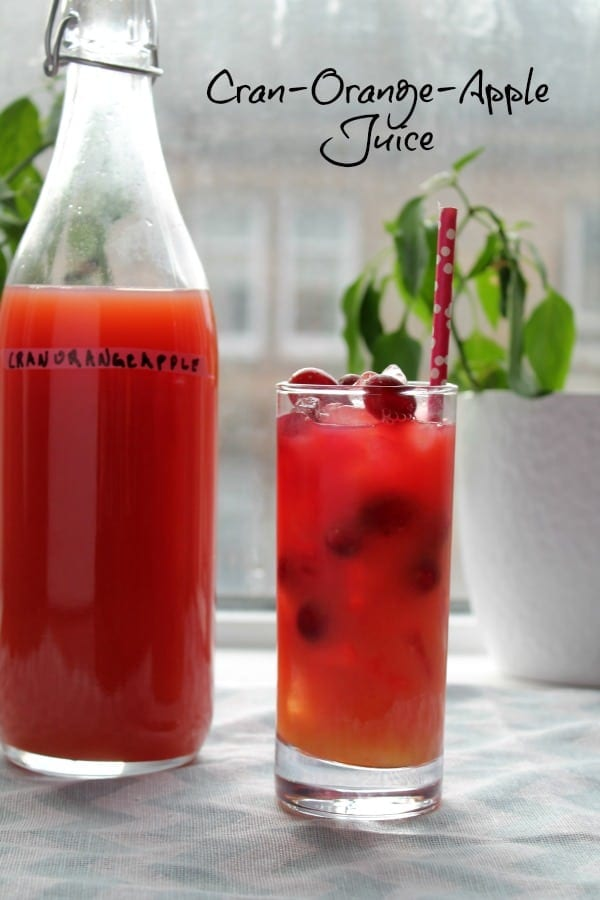 Cran-Orange-Apple Juice | How to be Awesome on $20 a Day