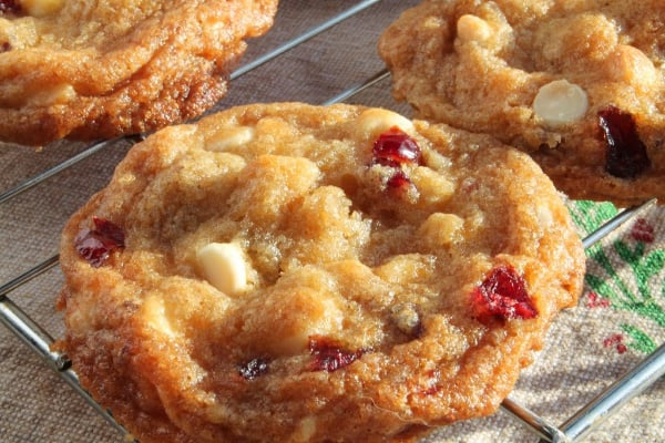 White Chocolate Cranberry Macadamia Nut Cookies | How to Be Awesome on $20 a Day