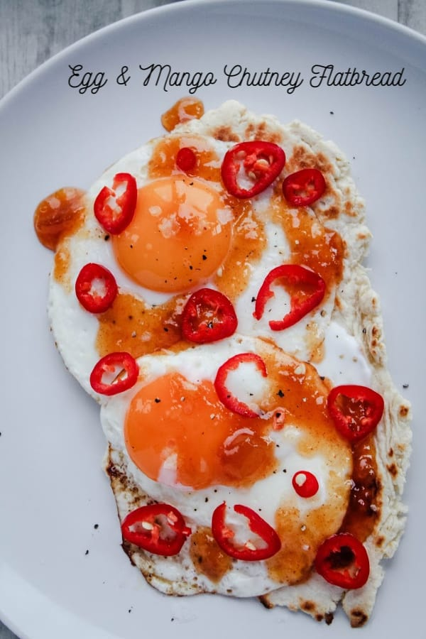 Egg & Mango Chutney Flatbread   How to Be Awesome on $20 a Day